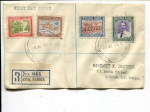 Western Samoa FDC 29.8.1939