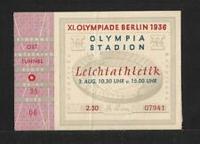 OLYMPIC GAMES BERLIN 1936 100 MTS TICKET