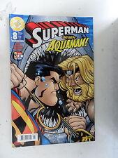 1x, cómic dc Superman Panini-contra Aquaman nº 8 estado muy bien