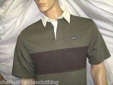 BNWT - WEIRD FISH  Short Sleeve Rugby Shirt  Khaki Green Medium