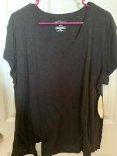 Women's Boutique JCPENNY Shirt Black 1X  SUPER CUTE