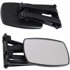 Set of 2 Universal Clip-on Towing Side Mirror Adjustable Extensions View Black