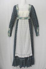 Gunne Sax Vintage 70s Cotton Prairie Empire Waist Renaissance Maxi Dress S or 9