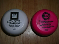 2 GM YoYo's New White Pink NOS UAW Chevy Olds Buick Cadillac Pontiac GMC Hummer