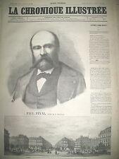 PAUL FEVAL NOUVELLE PLACE DE L'OPERA ELECTIONS PARIS LA CHRONIQUE ILLUSTRéE 1869