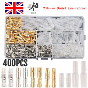 400PCS MOTORCYCLE WIRING HARNESS LOOM BULLET CONNECTORS BRASS 3.9MM ELECTRICAL