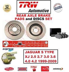 FOR JAGUAR S TYPE XJ 2.5 2.7 3.0 3.6 4.0 4.2 1999-2009 REAR BRAKE PADS + DISCS