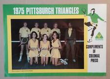 7334----1975 Pittsburgh Triangles team photo/poster -- World Team Tennis champs