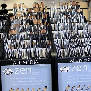Royal & Langnickel Zen 73 All Media painting artists Synthetic Brushes - Size