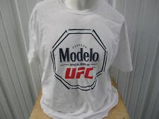 MODELO CERVEZA BEER X UFC LOGO PROMO WHITE XL FRUIT OF THE LOOM T-SHIRT NWOT