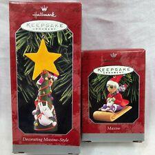 1998 Hallmark Maxine and Floyd on Sled Keepsake Ornament Christmas Tree Shoebox