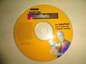2000 NORTON SYSTEM WORKS 2000  VERSION 3.0 BY SYMANTEC - HARD TO FIND DISKS