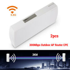 2x 5.8G Wireless WiFi Outdoor CPE Access Bridge Extender Signal Range High Power