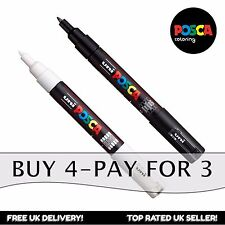 Posca PC-1M Paint Art Marker Pens - Black + White (Set of 2) - Buy 4, Pay for 3*