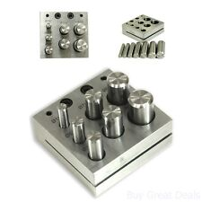 Punch Die 7 Piece Disc Cutter Set Jewelry Metal Plate Hole Coin Cutting Tools