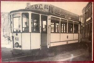 Milano Tram linea Sempione Stazione... fotografia 16X11 cm pubblicità Caffè
