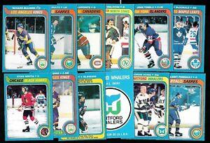 1979-80 OPC O PEE CHEE NHL HOCKEY CARD & TEAM PHOTO CHECKLIST 133-264 SEE LIST