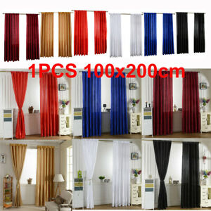 1X Blockout Curtains Thermal Blackout Curtains Fabric Pair Eyelet for Bedroom