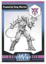 2009 Star Wars Miniatures Praetorite Vong Warrior Stat Card Only Near Mint