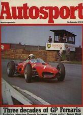 Autosport 7th septembre 1978 * Ronnie Peterson Interview *