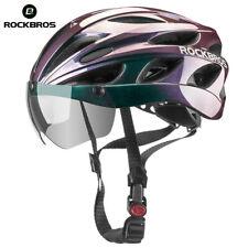 ROCKBROS Bicycle Helmet Safety Road Bike Gradient Purple Helmet With Goggles