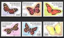 Papillons Guinée (24) série complète de 6 timbres oblitérés
