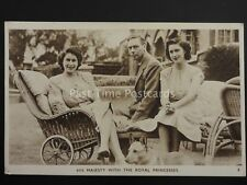His Majesty with the Royal Princesses & Corgi - Old Postcard by Photochrom Co.