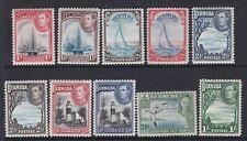 BERMUDA 1938 KGVI DEFINITIVE SET COMPLETE LIGHTLY/NEVER HINGED MINT