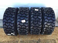 4 HD 10-16.5 Skid Steer Tires 10X16.5 Solideal SKZ Lifemaster-Bobcat & others