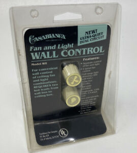 Vintage Solid State Casablanca Fan And Light Wall Control Model W8 Brand New