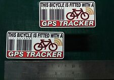 This Bicycle Is Fitted with a GPS Tracker Sticker Decal x2 alarm anti theft lock