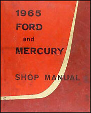 ORIGINAL 1965 Ford and Mercury Shop Manual Galaxie LTD Big Car Service Repair