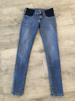 MAVI Gold Maternity Jeans Womens Size 27 Blue Denim Skinny Under Bump Pregnancy