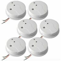 Kidde Home Wired Smoke Alarm Detector Fire Sensor Battery Backup 6 Pack Lot New
