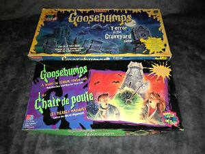 GOOSEBUMPS TERROR IN THE GRAVEYARD + A NIGHT IN TERROR TOWER *SPARES* BOARD GAME