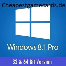 MS Win 8.1 Pro Microsoft Windows 8.1 Pro 32+64 Bit OEM Product key per email