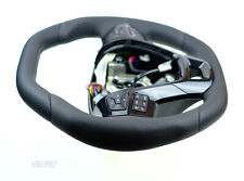 Ford Explorer custom steering wheel thick flat top & bottom smooth black leather