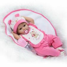 17''42cm Lovely Toddler Soft Silicone Reborn Dolls Baby Girl Look Real Xmas Gift
