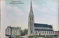 3 x St Eugene's Cathedral Brooke Park Londonderry Ireland Postcards Derry PK 13