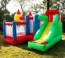 Trampoline Bounce Castle With Slide Home Use Outdoor Park Inflatable Bouncer New
