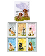GUI9603 Purebred dogs block and 6 stamps MNH GUINEE 1996