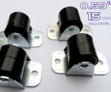Set Of 5 Rigid Plastic Wheels Casters Fixed 15mm Cupboard Drawer / Furniture