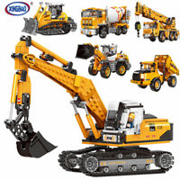 Xingbao Building Bricks Engineering series Lifting crane Excavator Bulldozer Toy