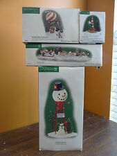 Dept 56 Snowman Watertower Canine Dog Courier Hot Air Balloon Sled Christmas Lot