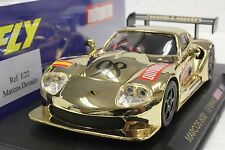 FLY E22 MARCOS 600 LE MANS AUTOPISTA 1998 GOLD NEW 1/32 SLOT CAR IN DISPLAY CASE