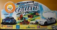 PLAQUE RALLYE CAILLETTE 2007 ALPINE A110 BMW COMPACT RALLYE AUTO