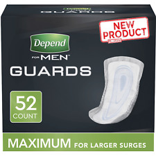 Depend Incontinence Guards/bladder Control Pads for Men MAXIMUM 104 Count