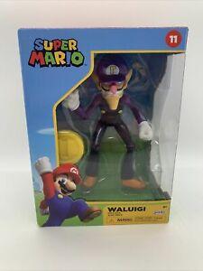 "Waluigi with Coin 4"" Action Figure 2021 Nintendo Super Mario - Jakks Pacific 11"