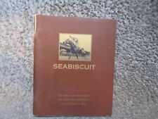 SEABISCUIT DREAMWORKS 2003 PROMOTIONAL GLOSSY BOOKLET 38 FULL COLOR PAGES OOP NM
