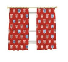 "England Football Team Curtains 66 x 54"", 3 Lions Crest, Tape Top, Boy's Bedroom"